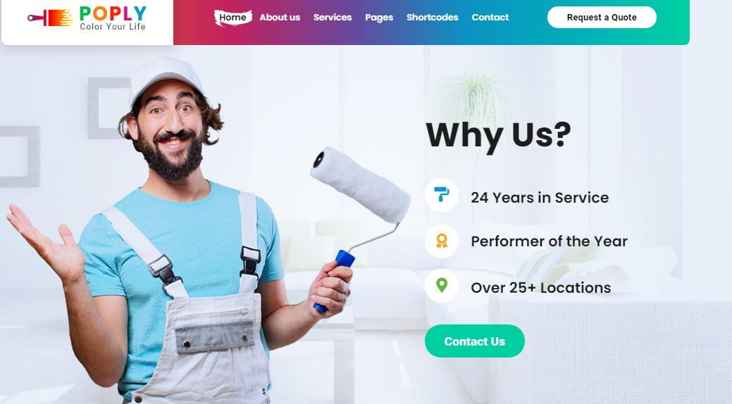 Poply–WordPress Painting Company Theme